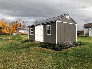 grey shed, barn, garden barn