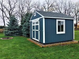 blue shed, blue barn, windows, door, outside, portable