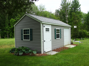 grey shed, garden shed, barn, portable, storage shed