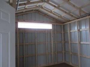 red shed, red garage, red and white, metal barn, storage shed, storage barn, shed, barn
