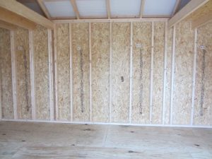 Stained Storage Shed